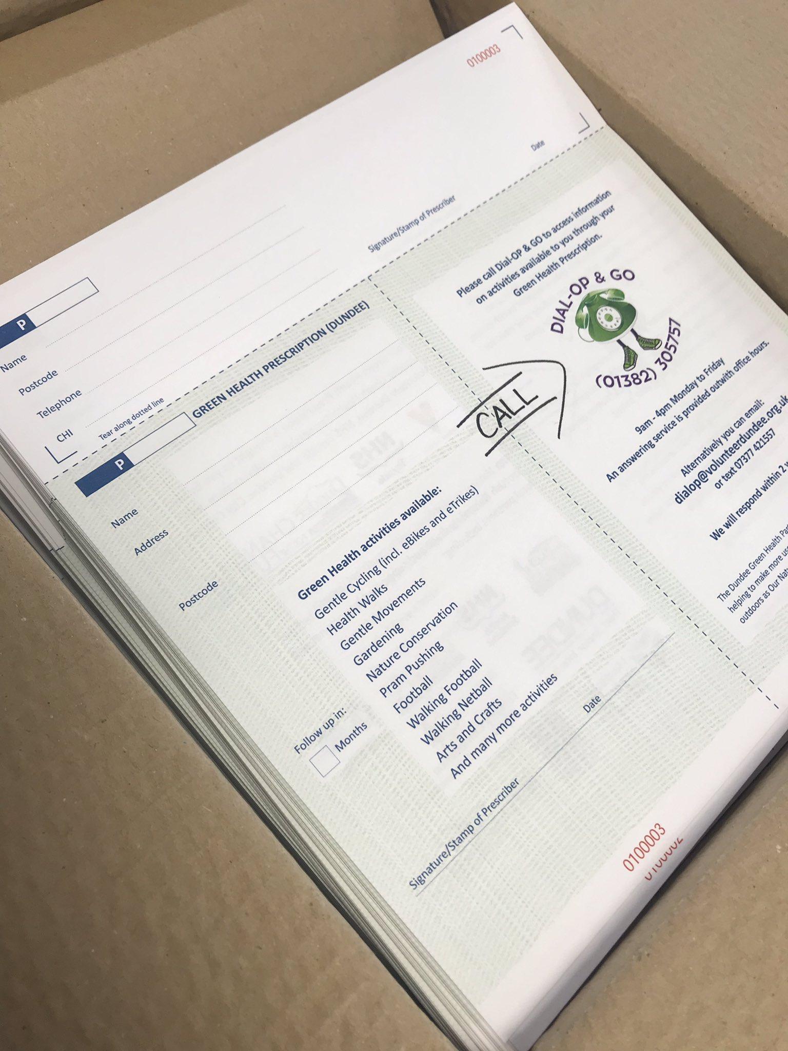 Dundee's Green Health Partnership Prescription