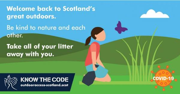Take your litter with you - Scottish Outdoor Access Code